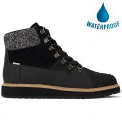Toms Womens Mesa Waterproof Ankle Boot - Black