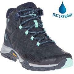 Merrell Womens Siren 3 Mid GTX Waterproof Boots - Navy Dragonfly