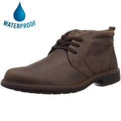 Ecco Shoes Mens Ecco Turn Waterproof Chukka Boots - Cocoa Brown