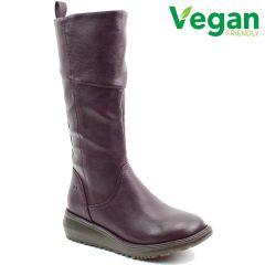 Heavenly Feet Womens Robyn 2 Vegan Wedge Boots - New Purple