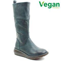 Heavenly Feet Womens Robyn 2 Vegan Wedge Boots - New Ocean