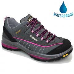 Grisport Womens Lady Nova Waterproof Walking Shoe - Grey Pink