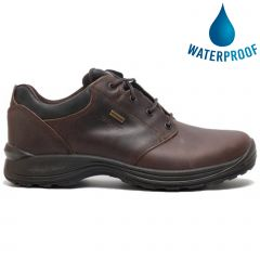 Grisport Mens Exmoor Waterproof Leather Walking Shoes - Brown