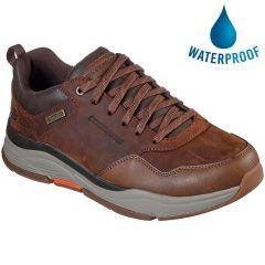 Skechers Mens Benago Hombre Waterproof Shoe - Dark Brown