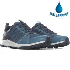 The North Face Womens Litewave Fastpack II WP Waterproof Walking Shoes - Mallard Blue Aviator Navy