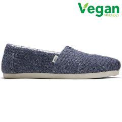 Toms Womens Alpargata Vegan Slippers - Navy