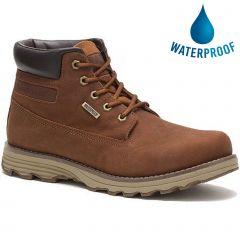 Caterpillar Mens Cat Founder WP TX Waterproof Ankle Boot - Danish Brown