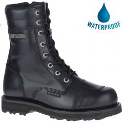 Harley Davidson Mens Edgerton CE Waterproof Motorcycle Boots - Black