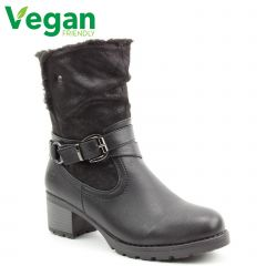 Heavenly Feet Womens Courtney Tall Ankle Boot - Black