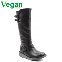 Heavenly Feet Womens Erica Tall Vegan Boot - Black