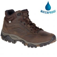 Merrell Mens Moab Adventure Mid Waterproof Boot - Dark Earth