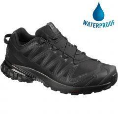 Salomon Mens XA Pro 3D v8 GTX Waterproof Walking Shoes - Black Black Black