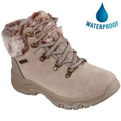 Skechers Womens Trego Falls Finest Waterproof Ankle Boots - Taupe