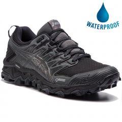 Asics Womens Fuji Trabuco 7 GTX Waterproof Trail Running Shoes - Black Dark Grey