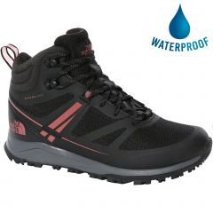 North Face Womens Lightwave Futurelight Mid Waterproof Walking Boots - TNF Black Dusty Cedar