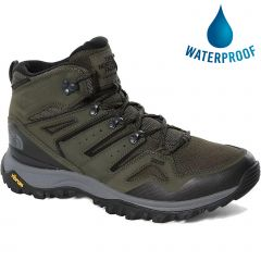 North Face Mens Hedgehog Futurelight Mid Waterproof Walking Boots - New Taupe Green TNF Black