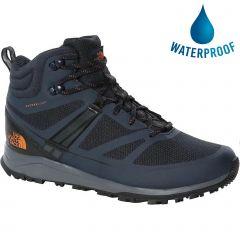 North Face Mens Lightwave Futurelight Mid Waterproof Walking Boots - Urban Navy TNF Black