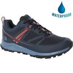North Face Womens Lightwave Futurelight Waterproof Walking Shoes - Urban Navy Dusty Cedar