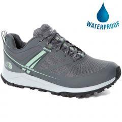 North Face Womens Lightwave Futurelight Waterproof Walking Shoes - Zinc Grey Green Mist