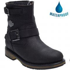 Harley Davidson Womens Kommer CE Waterproof Motorcycle Boots - Black