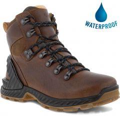 Ecco Shoes Womens Exohike GTX Waterproof Walking Boots - Cocoa Brown