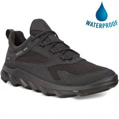 Ecco Shoes Mens MX Waterproof GTX Trainers - Black Black