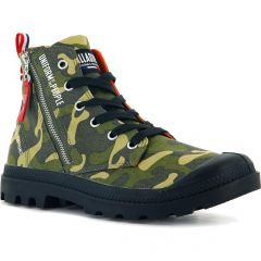 Palladium Mens Pampa Hi Outzip Uniform Of The People Boots - Norway Camo