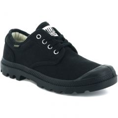 Palladium Womens Pampa Ox Originale Canvas Combat Shoes Trainers - Black