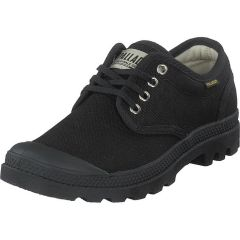 Palladium Mens Pampa Ox Originale Canvas Combat Shoes Trainers - Black