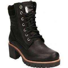 Panama Jack Womens Phoebe B17 Waterproof Leather Ankle Boots - Napa Black