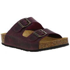Plakton Womens Malaga Adjustable Slide Sandals - Purple