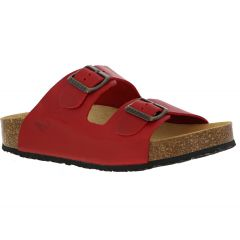 Plakton Womens Malaga Adjustable Slide Sandals - Red