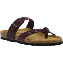Plakton Womens Savannah Strappy Toe Post Sandals - Purple