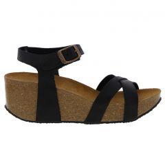 Plakton Womens Sitges Hi Sandals - Black