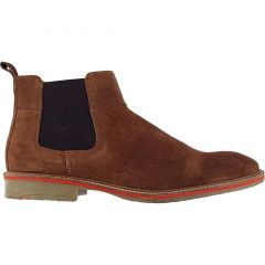 Roamers Mens Suede Leather Chelsea Boots - Sand