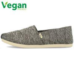 Toms Womens Alpargata Classic Espadrille Vegan Shoes - Black Repreve