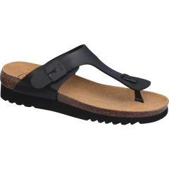 Scholl Womens Boa Vista Up Toe Post Sandal - Black