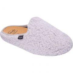 Scholl Womens Maddy Slippers - Light Grey