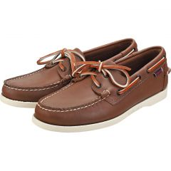 Sebago Mens Dockside Portland Leather Boat Deck Shoes - Brown