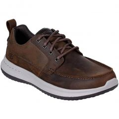 Skechers Mens Delson Elmino Lace Up Shoes - Dark Brown