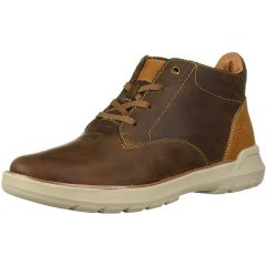 Skechers Mens Doveno Molens Leather Ankle Booots - Brown