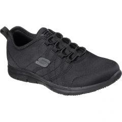 Skechers Womens Ghenter Srelt Work Trainers Shoes - Black