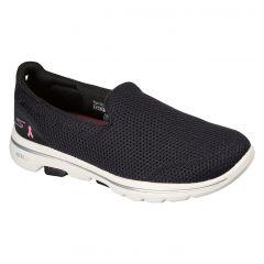 Skechers Womens Go Walk 5 BCA Slip On Shoe - Black White