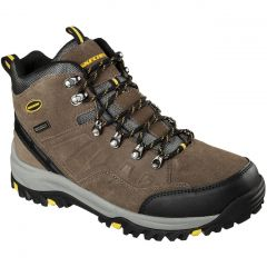 Skechers Mens Relment Pelmo Waterproof Walking Boots - Khaki