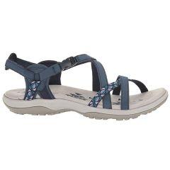 Skechers Womens Reggae Slim Vacay Adjustable Walking Sandals - Blue