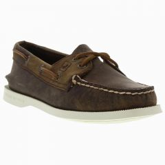 Sperry Womens Top Sider A/O 2 Eye Leather Boat Shoes - Brown