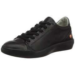 Softinos By Fly London Womens Bauk Leather Trainers - Smooth Black