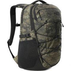 North Face Borealis Backpack Rucksack Laptop Shoulder Bag - Military Olive Cloud Camo Wash Print