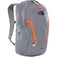 The North Face Vault Rucksack Bag - Zinc Grey Dark Heather Persian Orange