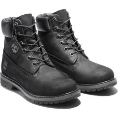 Timberland Icon Womens 6 Inch Premium Waterproof Boots Wide Fit - 8658A - Black